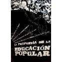 LA PROPUESTA DE LA EDUCACION POPULAR